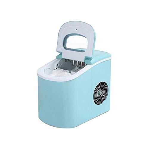 XHCP Tragbare automatische Eismaschine, Hoehold Bullet Round Ice Make-Maschine für Familien, kleine Bar, Café, blau