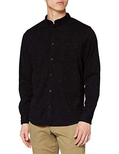 KRONSTADT Mens L/S Shirt, Black, Large