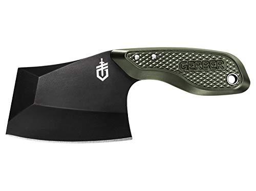 Gerber Gear 30-001694 TRI-Tip, Mini Cleaver Fixed Blade Knife with Sheath, Green