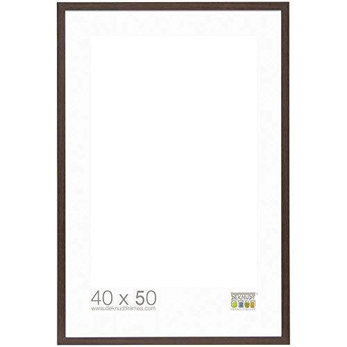 Deknudt Frames S44CH4 Basic Cadre Photo Bois/MDF Brun Foncé Fin 40 x 50 cm