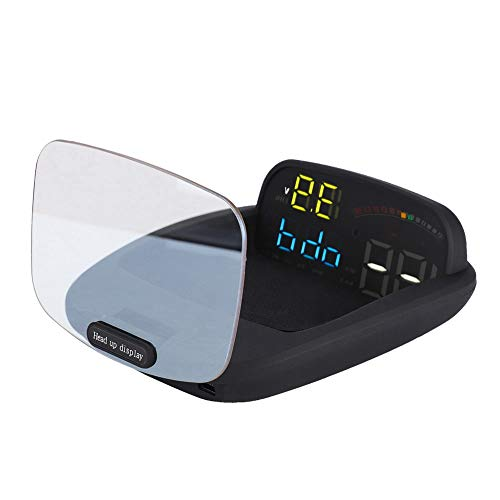 Head Up Display, Car HUD Pantalla Grande Auto Car HUD Head Up Display Advertencia de Exceso de Velocidad Sistema de Proyecto de Parabrisas para OBD y Sistema Dual GPS.