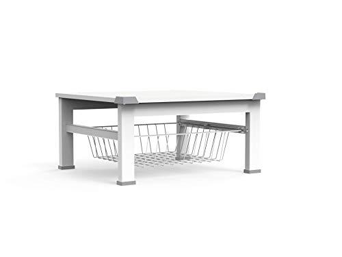 Meliconi Base Space, rialzo di 30 cm per lavatrice/ asciugatrice o altro elettrodomestico con cestello estraibile, colore bianco