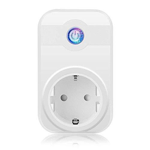 MixMart Presa Intelligente Multifunzione Risparmia Energia Compatibile con Amazon Alexa e Google Assistant, Presa Smart Comandabile sia da Dispositivo Android che iOS