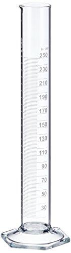 neoLab E-1267 Messzylinder, hohe Form, Sechskantfuß, Boro Kl. B, 250 mL
