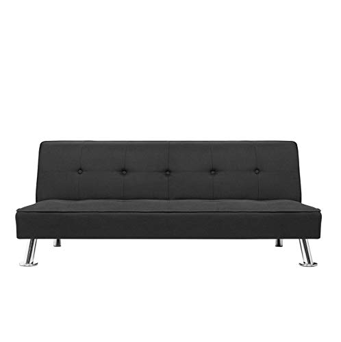 Gunji Futon Sofa Bed Modern Collection Convertible Sofa Futon Couch Bed Folding Recliner for Living Room (Black)