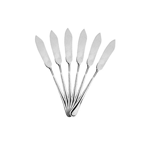 Mr. Spoon 6 Palas de Pescado Acero INOX. 21 x 2,2 cm (Colección Elegance)