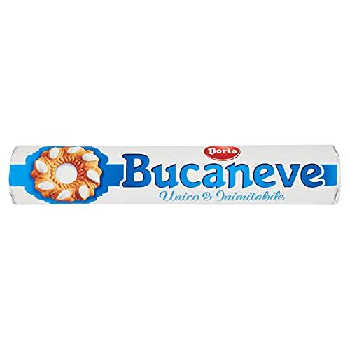 Doria - Bucaneve Classico - Biscotti Ideali per la tua Colazione o Spuntino - Confezione Tubo da 200 gr