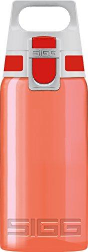 SIGG VIVA ONE Red Kinder Trinkflasche (0.5 L), schadstofffreie Kinderflasche mit auslaufsicherem Deckel, einhändig bedienbare Sporttrinkflasche