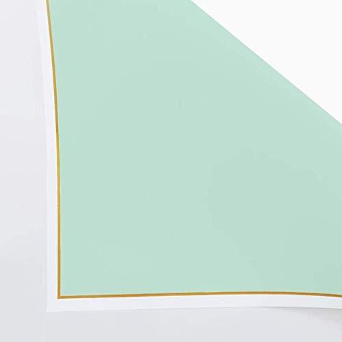 ZXL Golden Border Wrapping Paper, Effen kleur Matte Boeket Wrapping Paper Moederdag Ketting Verpakkingsmateriaal Papier (Kleur: Geel, Maat : 58 * 58CM)