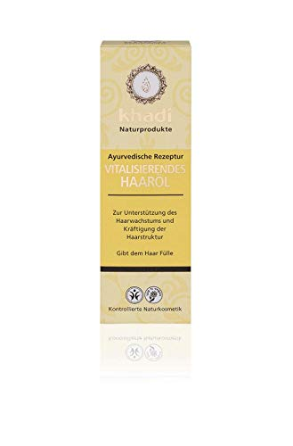 khadi Vitalisierendes Haar-Öl 100ml I Ayurvedische Haarpflege gegen Haarausfall I Naturkosmetik 100% biologisch I Sesamöl, Kokosöl & Rosmarinöl