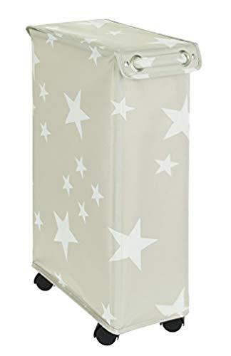 WENKO Corno Stella - Cesto para la colada con tapa, capacidad: 43 L, poliéster, 18,5 x 60 x 40 cm, multicolor