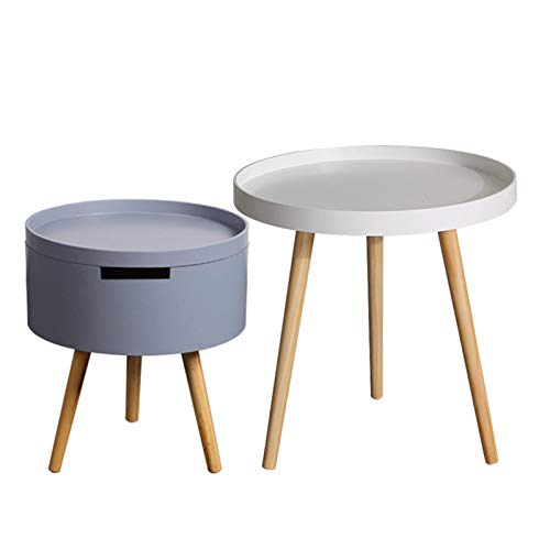 Small Round Table Sofa Side Table Mobile Side Table Simple Modern Mini Coffee Table Bedroom Bedside Table Minimalist
