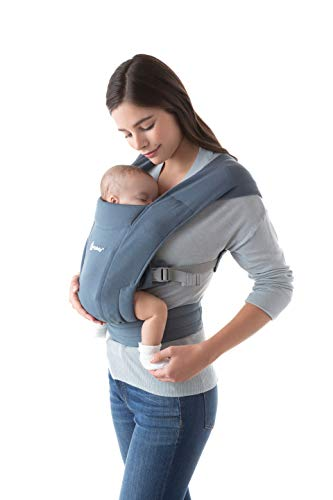 Ergobaby Embrace Cozy Newborn Baby Wrap Carrier (7-25 Pounds), Oxford Blue