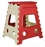 IASPRODUCTS Foldable Step Stool 18 Inch for Kids & Adults, Kitchen Garden Bathroom