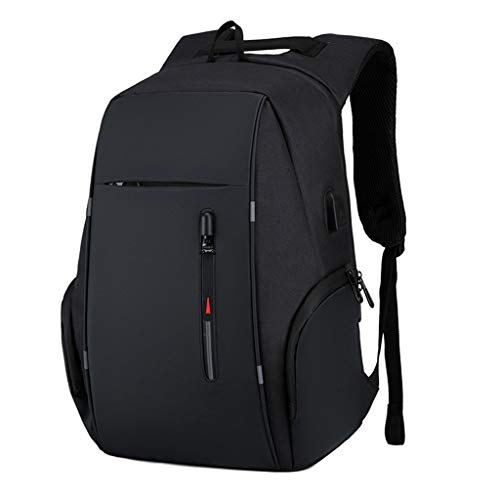 Business Travel Laptop Backpacks, Large Water Resistant Business Computer Bag with USB Charging Port Durable School Bookbag Computer Bag for Men Women Fits 17.3 Inch Laptop,A