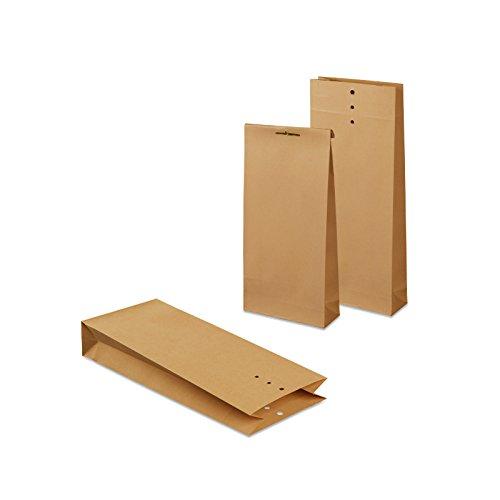 mashpaper Musterbeutel Klotzbodenbeutel 250 Stück braun Nr. 5 Format: 120x285x50 mm 103820