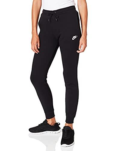Nike Damen W NSW ESSNTL Pant REG FLC Sport Trousers, Black/(White), L