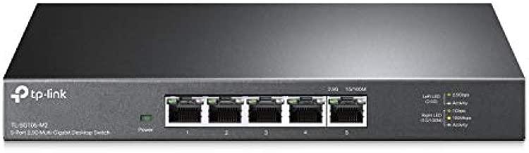 TP-Link TL-SG105-M2 | 5 Port Multi-Gigabit Unmanaged Network Switch, Ethernet Splitter | 2.5G Bandwidth | Plug & Play | Desktop/Wall-Mount | Fanless Metal Design | Limited Lifetime Protection