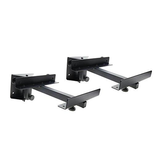 BeMatik.com - Soporte de altavoz de pared hasta 15Kg (2 unidades) negro