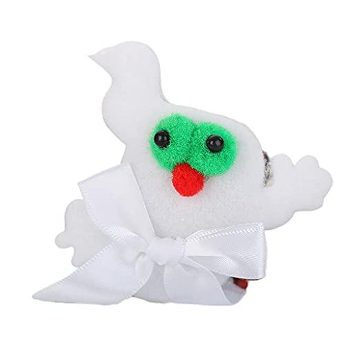 YUZI Halloween Slap pulsera de dibujos animados calabaza murciélago felpa LED luz pulsera anillo juguetes
