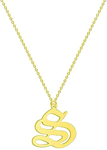 Liuqingzhou Co.,ltd Collar Collar Carta Collar de Pareja Hombres Mujeres Nombre Inicial Joyería de Acero Inoxidable Oro Rosa Amistad étnica Collares Regalo