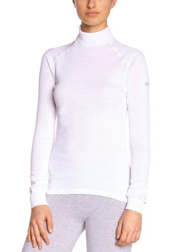 Odlo L/S Turtle Neck Active Originals Warm, Camiseta Térmica para Mujer, Blanco, XS