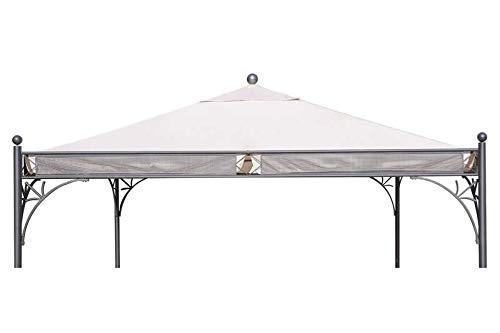 OUTFLEXX Ersatzdach für Siena Garden Pavillon Korfu, Natur, Polyester PU-beschichtet, 350x350cm