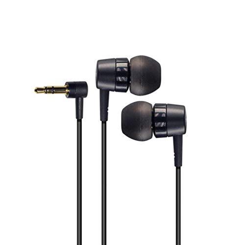 Leiouser - Auriculares estéreo con forma de L (3,5 mm, cable corto, suave, estéreo, compatible con SO-NY