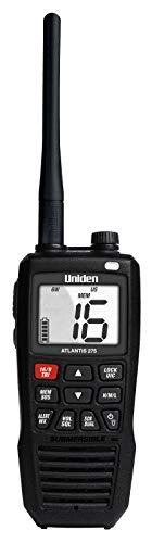 Uniden Atlantis 275 Handheld Two-Way VHF Marine Radio, Floating IPX8 Submersible Waterproof, Large Dual-Color Screen, 6-Watt, All USA/International/Canadian Marine Channels, NOAA Weather Alerts