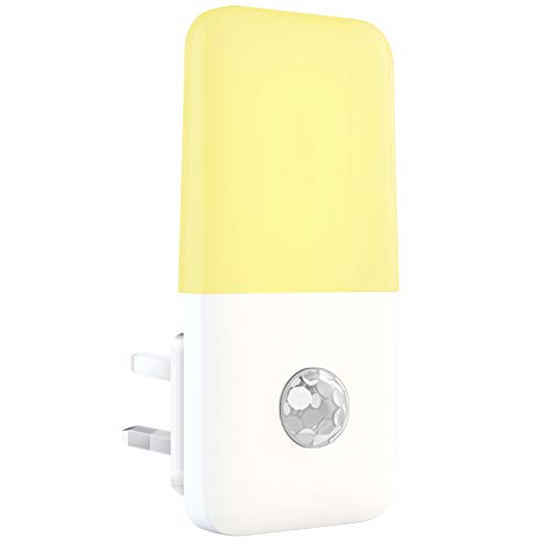 Motion Sensor Night Light, Babyliya PIR Movement Activated LED Lamp, Energy Saving Plug in Wall Warm White Night Lighting for Kids, Children's Room, Stairs, Kitchen, Hallway, Bedroom, Living Room, etc