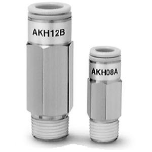 SMC AKH07A-N01S check valve, m/connector, inch from SMC
