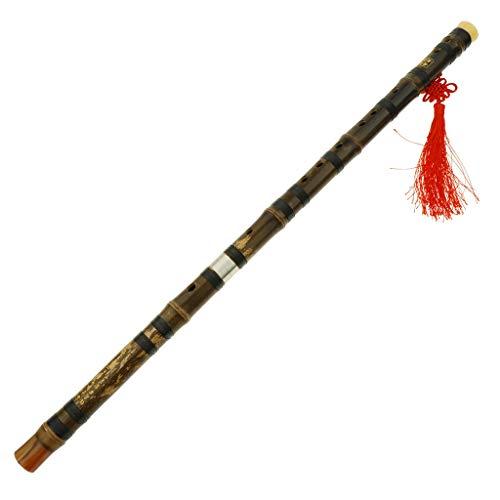 B Baosity Professionelle Bambus Dizi Flöte Traditionelle handgemachte chinesische Musikholzblasinstrument Schlüssel von C/D/E/F/G-Studie Stufe - F Ton