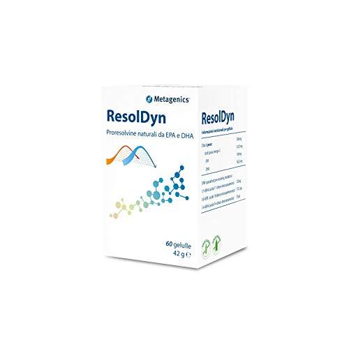 Metagenics - Resoldyn - 60 Gellule - Proresolvine naturali da EPA e DHA - Omega 3