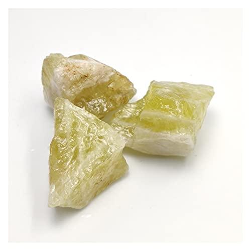 YSJJAXR Naturkristall rau Zitronenquarz Natürliche Citrin Stein Gelb Quarz Kristall Raue Punkte Bulk Edelstein Heilung Mineral DIY Material (Color : 100g, Size : 3-5cm)