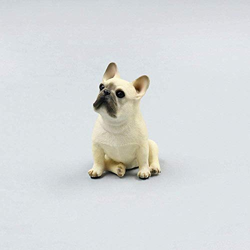 Generic Brands Decorative Statue Mini French Bulldog Model Simulation French Bulldog Decoration French Bulldog Crafts