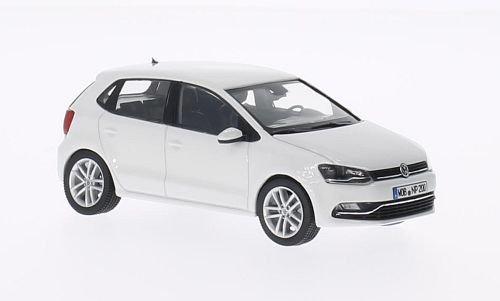 VW Polo V (6C), 5-Türer , weiss, 2014, Modellauto, Fertigmodell, Herpa 1:43