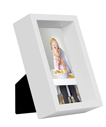 BD ART 10 x 15 cm Box Bilderrahmen, Weiß
