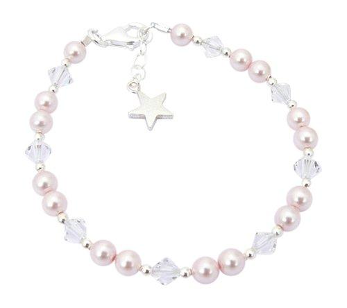 Charms and Occasions Ltd Cadeau de Noël pour Enfants – Bracelet Argent Sterling et Perle