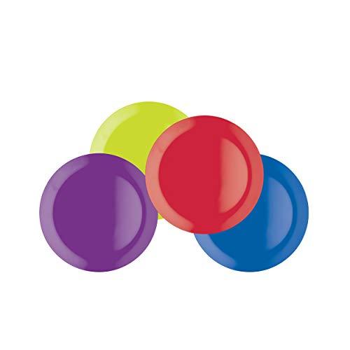 Colourworks Vierdelige melamine snackbordenset, 23 cm