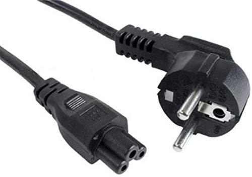 NEU Notebook Netzkabel Schukostecke Stromkabel 3 polig Kleeblatt Micky Maus Kabel Mickymaus 3 Polig 1m AC Zertifiziert. Passt für HP IBM Acer Dell Lenovo
