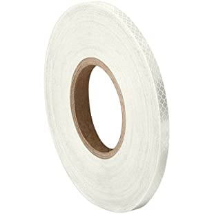 """TapeCase 3430 0.25"""" x 50yd White Micro Prismatic Sheeting Reflective Tape Converted from 3M 3430, 0.25"""" x 50 yd"""