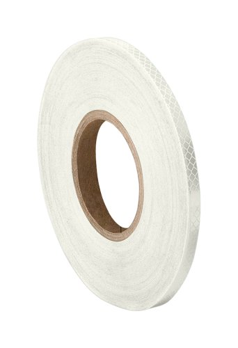 3M - 1/2-50-3430(PK 2) 3430 White Micro Prismatic Sheeting Reflective Tape 0.5' Width x 50 yd Length (Pack of 2)