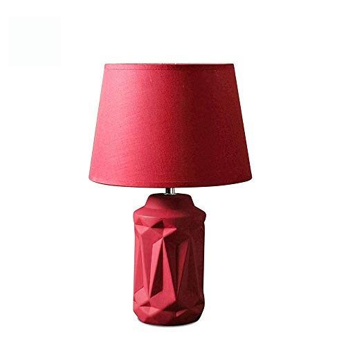 YM963 La tabla creativa de la lámpara nórdica moderna simple de cerámica del dormitorio principal Sala de estar Decoración lámpara de mesa de noche Mesa rojo de la lámpara ahorro de energía de la lámp