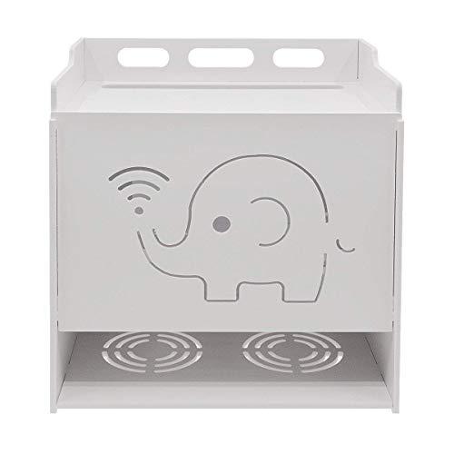 Uotyle - Soporte de pared para router wifi con tres estantes, color blanco