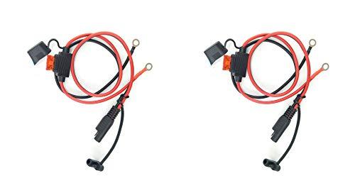 Dongge SAE Batterieanschluss SAE schneidet den Stecker schnell in die 12-V-Ringklemmensicherung die zum Laden von Motorrädern Traktoren Autos usw geeignet ist 2-teiliges Set