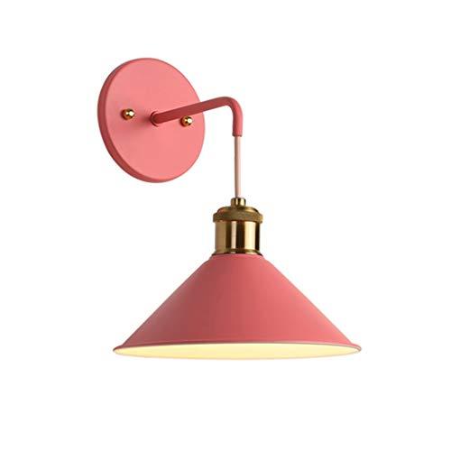 MLX Macaron Applique, Applique Avec Interrupteur 7 Couleurs Macaron Applique E27 Edison Support De Lampe En Cuivre Avec Peinture Givrée Lampe De Chevet (Couleur : F)