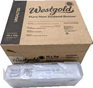 NZ産グラスフェッドバター Westgold 業務用 無塩バター1ケース(1kgx10) 冷凍