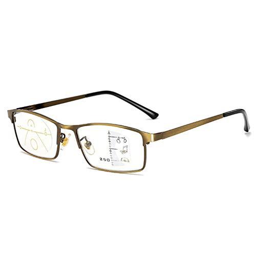 Gleitsichtbrille Progressive Multifokus-Lesebrille, Blaulicht Blockierende Autofokus-Multifokalleser Computerbrillenbrillen, Ultraleichte Augenbelastung Zum Lesen, Stricken, Einfädeln Einer Nadel
