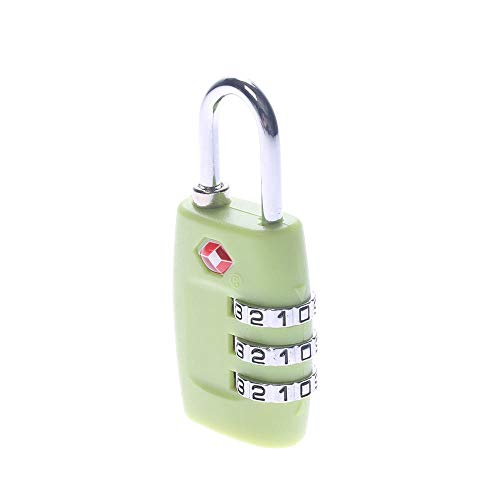 Lock Pad Lock Digit Nummer Combinatie Password Lock Travel Security Bescherm Locker Travel Lock voor Bagage/Bag/Rugzak/Lade Apple Groen