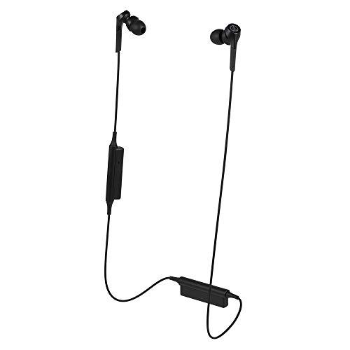 Audio-Technica ATH-CKS550XBTBK Solid Bass Bluetooth Wireless In-Ear Headphones, Black